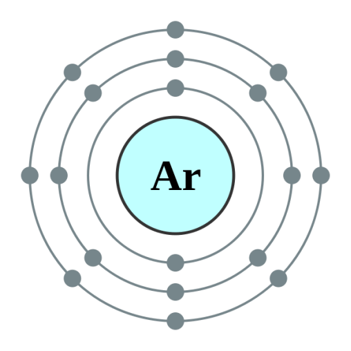 Element example argon for science pictured above a bohr model of the electron configuration of argon ccuart Images
